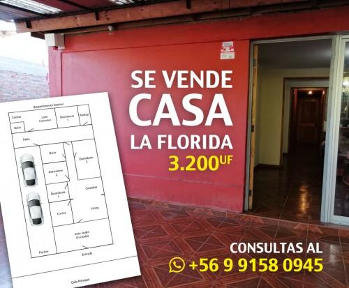 Se Vende Casa en La Florida - 4D / 2B